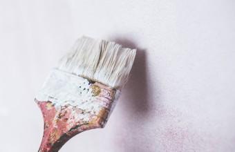 kaboompics.com_ Brush painting the white wall